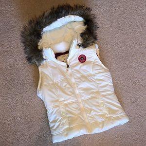 Aeropostale Puff Vest with Fur